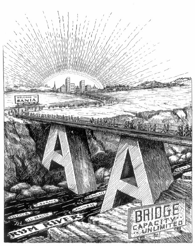 Alcoholics Anonymous Bridge to Safety over the Rum River