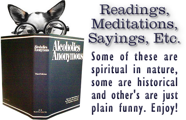 Alcoholics Anonymous Spiritual Sayings Meditations Readings