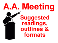 alcoholics anonymous meeting guidelines readings format